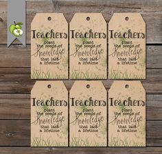 gift tags teacher plant the seed plant tag teacher gift tag Teacher gift end of year tag gift tag Gift Tag Thank you. Teacher Gift Tags, Teacher Thank You, Your Teacher, Thank You Gifts, Valentines For Teacher, Sunday School Teacher, School Staff, Teacher Appreciation Week, Employee Appreciation