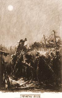 H.J. Mowat, charcoal and black wash