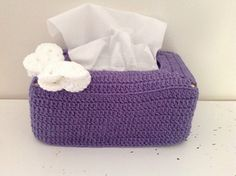 Tissue Box Cover - free crochet pattern by Selena Wallace.
