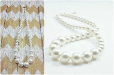 Bridesmaid Jewelry Set   Wedding Pearl Necklace by Amanda Badgley Designs   A Bridal Boutique {Bride + Bridesmaid Jewelry}