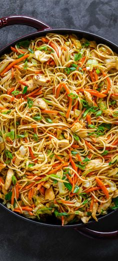 Homemade Chicken Chow Mein is way better than takeout! A satisfying one-pan dinner with chicken, vegetables, noodles, and the best homemade chow mein sauce. Chow Mein Au Poulet, Pasta Dishes, Food Dishes, Main Dishes, Homemade Chow Mein, Kitchen Recipes, Cooking Recipes, 30 Min Meals, Veggie Fries