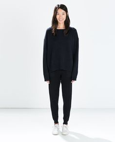 Image 1 of RIBBED KNIT TROUSERS from Zara