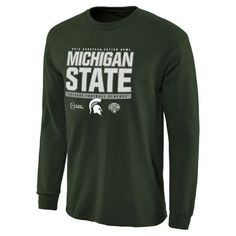Michigan State Spartans College Football Playoff 2015 Cotton Bowl Bound Snap Long Sleeve T-Shirt - Green - $18.99