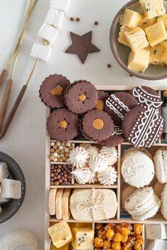The Ultimate Vanilla Bean Christmas Treat Box — Cloudy Kitchen Christmas Food Treats, Christmas Cookies Gift, Christmas Desserts, Christmas Baking, Santa Cookies, Christmas Holiday, Christmas Cards, Cookie Gifts, Food Gifts