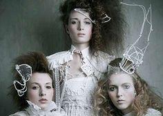 3 Queens by Dominik Smialowski  (Victorian in winter white)