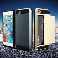 Wish | Samsung Galaxy S8 S8 Plus Fashion Slide Card Storage TPU + PC Hybrid Armor Mobile Phone Case Cover For Samsung Galaxy S6 / S6 Edge / S6 Edge Plus S7 S7 Edge Note 4 Note 5 Note 7 For iPhone 5 5S 5C For iPhone 6 4.7inch / 6S For iPhone 6 Plus / 6S Plus For iPhone 5 5S SE For iPhone 5C