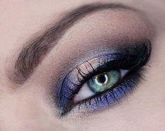 'Violet Shadow' look by Agata Korneluk using Makeup Geek's Corrupt, Cupcake, Shimma Shimma, Caitlin Rose, and In The Spotlight eyeshadows and foiled eyeshadows.
