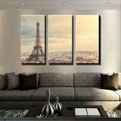 Paris 5 Piece Canvas Set