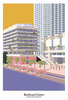 The Barbican Center, (Powell and Bon Chamberlin)  Giclee print on Decor Smooth Art 210gsm.  43cm x 63cm