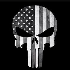 Punisher Skull Thin Blue Line American Flag (grunge) Decal Sticker Graphic - 5 Sizes Punisher Skull American Flag, Cornhole Decals, Blue Line Police, Fire Tattoo, Into The Fire, Thin Blue Lines, Skull Art, Vinyl Decals, Drawings
