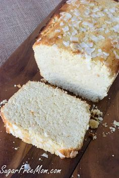 Sugar Free Low Carb Grain Free Lemon Pound Cake