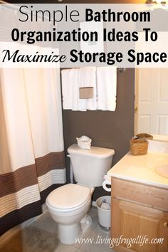 Use these bathroom organization ideas to simplify your bathroom and keep yourself organized, even when you are using the bathroom regularly. Includes ideas that maximize storage space no matter what the bathroom size.