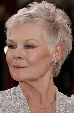 short hair on Pinterest   Judi Dench, Over 50 and Short Hairstyles