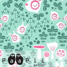 PaaPii Design - Forest Animals cotton, green