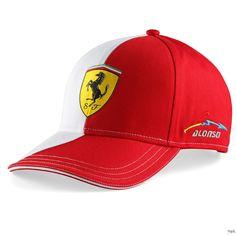 Czapka Ferrari Two Color Cap Alonso Logo - Red   FERRARI ACCESSORIES   Fbutik   Scuderia Ferrari Collection