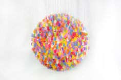 Chandelier made from 3,000 gummy bears by Kevin Champeny for Jellio #design #inspiration #light