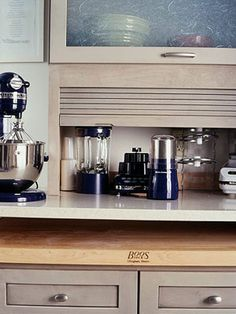 appliance garage small kitchen options  get inspired    counter top cupboard and      rh   pinterest com