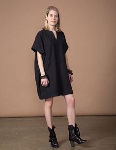 SBJ Austin Mary Dress - Black Woven