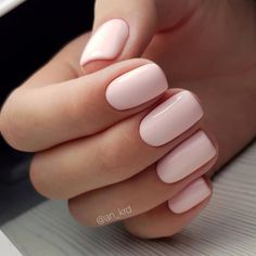 Intricate Designs For The Short Acrylic Nails - Polish and Pearls Blush Pink on short nails Blush Nails, Pink Gel Nails, Light Pink Nails, Pastel Pink Nails, Short Nail Manicure, Squoval Acrylic Nails, Simple Gel Nails, Coffin Nails, Basic Nails