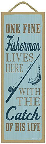 """Father's Day gift ideas. Lake Quote Wooden Sign Plaque 5"""" x 15"""" by SJT., http://www.amazon.com/dp/B011FBPPEI/ref=cm_sw_r_pi_dp_x_y53nzb0PZ1X5R"""