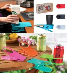 Colorful Clip On Table Cup Holders