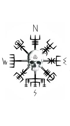 Vegvisir skull tattoo