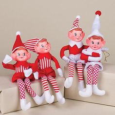 Red, Green, and White Bendable Elf Christmas Ornament 14509001 Gingerbread Christmas Tree, Candy Cane Christmas Tree, Unique Christmas Trees, Old World Christmas, Christmas Tree Themes, Christmas Store, Noel Christmas, Christmas Tree Decorations, Christmas Crafts