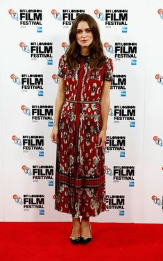 Keira Knightley Platform Pumps - Keira Knightley didn't opt for simple pumps with the embroidered Charlotte Olympia pair she wore to the 'Laggies' premiere.