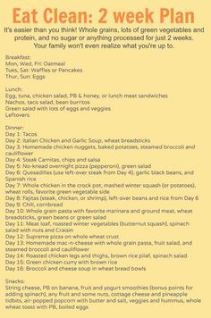 2 Weeks Of Clean Eating Ideas With Food That Actually Taste Good.