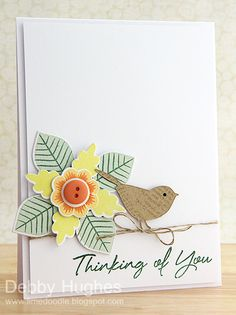 I am drawn to the simplicity of this card.  Reed Bird Die from Memory Box and Paper Trey Lovely Layers stamps