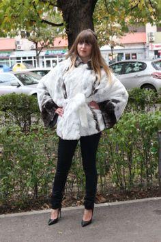 NEW WHITE CHINCHILLA REX FUR JACKET COAT мех доха CLASS SABLE MINK FOX ONE SIZE | eBay