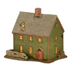 Amazon.com: Department 56 New England Village Essex St. Witch House, Lit House, 5.7-Inch: Home & Kitchen