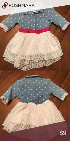 Country style dress Hearts and lace Little Lass Dresses Casual