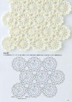 Книга: Continuous Crochet Motifs 2016 (Б - Diy Crafts - maallure Irish Crochet Patterns, Crotchet Patterns, Crochet Motifs, Crochet Diagram, Crochet Squares, Crochet Chart, Hand Crochet, Crochet Stitches, Knit Crochet