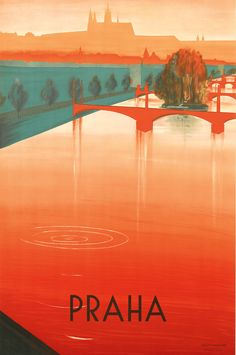 swanngalleries:  Zdenek Rykr,Praha.An alluring travel poster from our upcoming November sale.