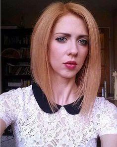 Strawberry Blonde Lob mit Wispy Ends