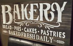 Kitchen sign/bakery sign/restaurant decor\coffee shop sign/hostess gift by Kitchen Wedding Gifts, Kitchen Gifts, Gift Wedding, Vintage Kitchen Signs, Coffee Shop Signs, Pots, Bakery Sign, Selection Boxes, Rustic Wood Signs