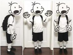 Diary of a wimpy kid costume Book character day! Diary of a wimpy kid costume The post Book character day! Diary of a wimpy kid costume appeared first on Halloween Kids. Book Costumes, World Book Day Costumes, Book Week Costume, Diy Costumes, Children's Book Characters Costumes, Literary Costumes, Costume Ideas, Halloween Karneval, Halloween Kostüm