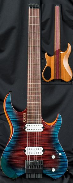 """Kiesel Guitars Carvin Guitars """"Blue Fire"""" Finish on this Vader"""