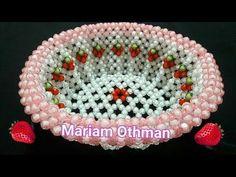 طريقة عمل طبق فاكهة من الخرز  _ مريم عثمان | How to bead fruit plate - YouTube