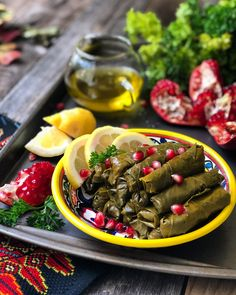 Arabic Dessert, Arabic Food, Arabic Sweets, Grape Leaves Recipe, Turkish Recipes, Persian Recipes, Greek Recipes, Yummy Recipes, Stuffed Grape Leaves