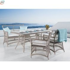 Latia 4 Seater Dining Set with Upholstery Home Loft Concept