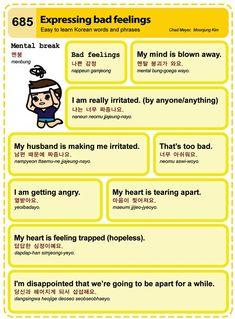 Learn Korean - Expressing Bad Feelings Credit: Korean Times
