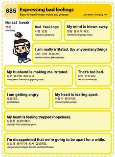 Learn Korean - Expressing Bad Feelings Credit: Korean Times