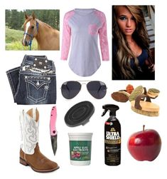 """early summer day with horse"" by cassidyanddreamer on Polyvore featuring Miss Me, Laredo, NLY Accessories and POLICE"