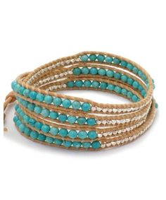 Turquoise and Silver Chan Luu Bracelet - want to make this
