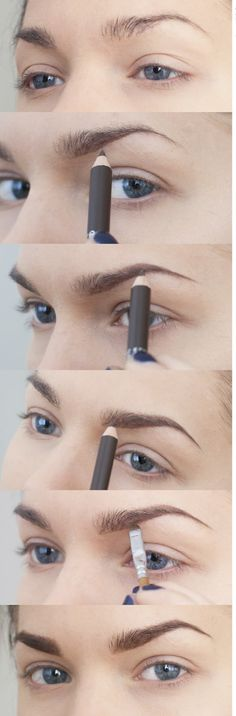 Use light, short strokes to mimic your natural eyebrow hairs. Make sure to start light. You can always add more if you need, but it's harder to remove brow product once it's already on the hairs.