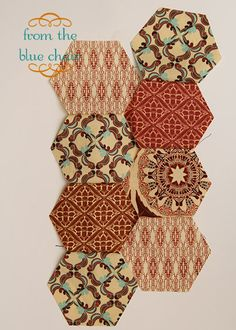 from the blue chair: How to Piece Hexagons: Part 2 (make big hexagon quilt for dorm)