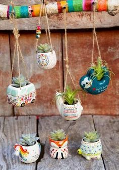 Shop Boho Home Décor Happy Gifts Natural Life Natural Life Clay Projects, Clay Crafts, Diy And Crafts, Cute Car Accessories, Decoration Plante, Hanging Succulents, Boho Home, Natural Life, Vida Natural