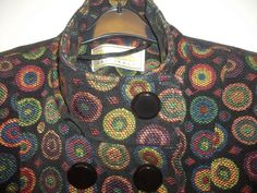 STUNNING ROMAN BLACK & COLOURED CIRCLE JACKET SIZE S- VGC!